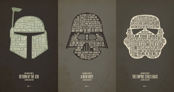 jerod gibson star wars typography font poster t-shirt iphone ipod skin case