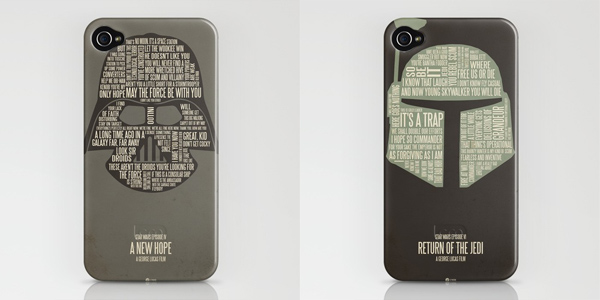 star wars jerod gibson typography posters t-shirts ipod iphone case skin