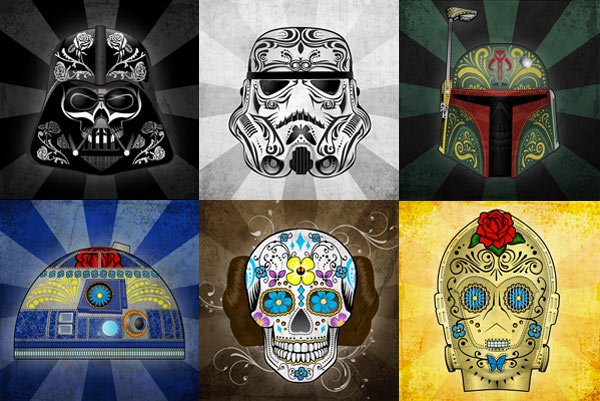 star wars day of the dead mexico john karpinsky