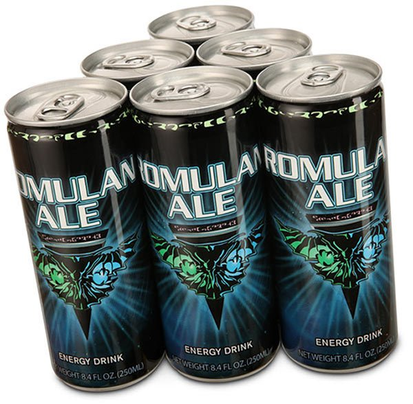 star trek romulan ale energy drink fun