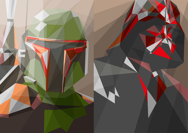 liam brazier polygonal star wars prints t-shirts