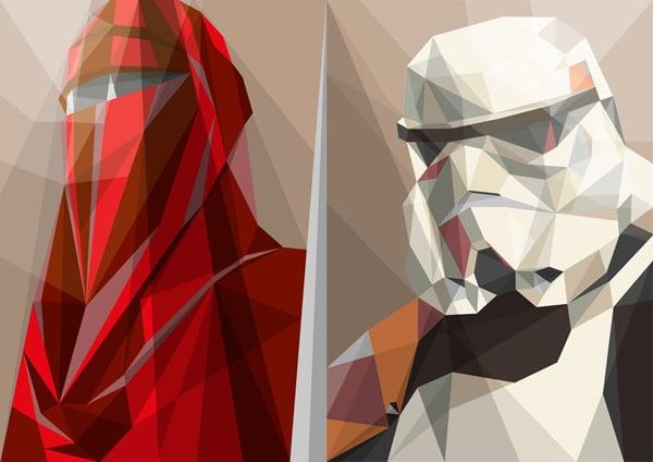 liam brazier polygonal star wars prints t-shirts