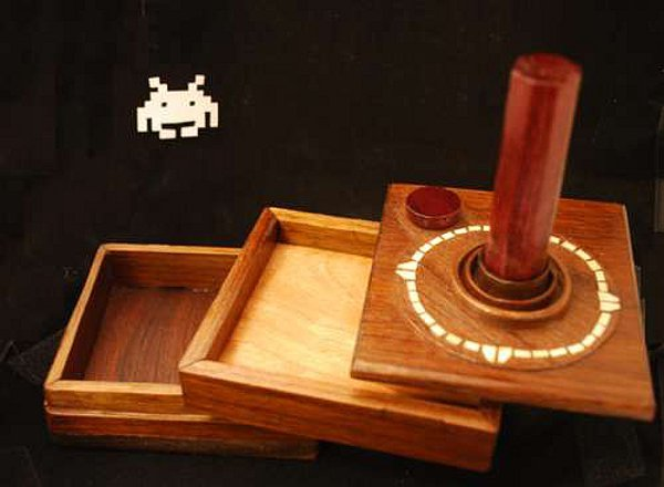 atari box wood jewelry retro video games