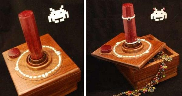 atari box wood jewelry retro video games