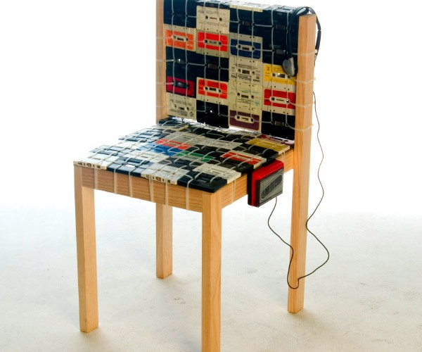 Cassette Tape Chair: Sit Man, then WalkMan