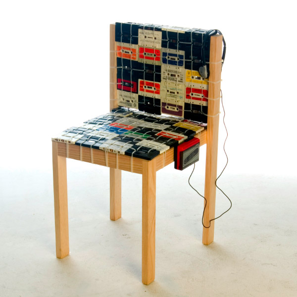 cassette tape chair ooomydesign 1