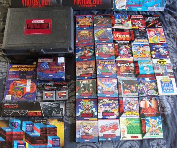 Complete Virtual Boy Collection on eBay Costs 32 Nintendo 3DSes