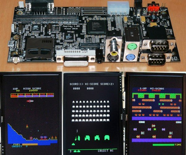 FPGA Arcade Replay Board Emulates Classic Arcade Game Hardware