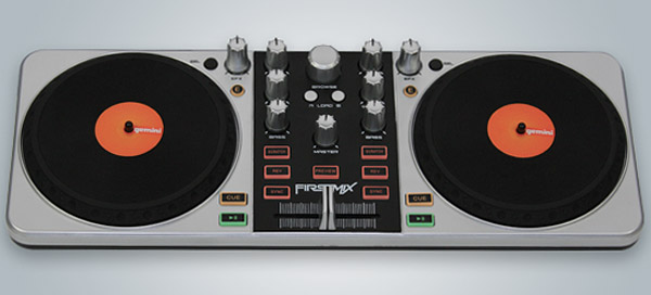 gemini firstmix usb dj controller mix tracks on the cheap technabob. Black Bedroom Furniture Sets. Home Design Ideas