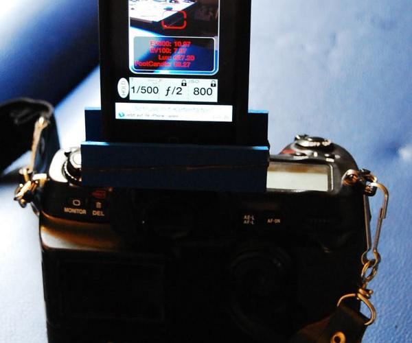 DIY DSLR iPhone Light Meter Hotshoe Mount