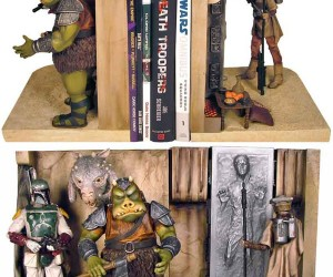 Jabba's Palace Bookends: Complete with Carbonite and Leia in Disguise