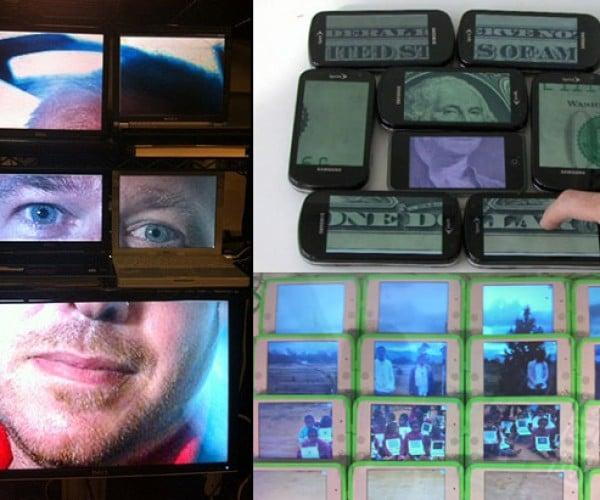 Junkyard Jumbotron Turns Random Displays into One Big Screen