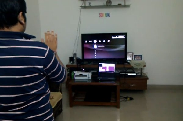 kinect ps3 hack by shantanu goel