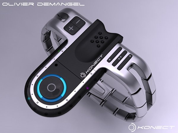 konect usb concept watch by olivier demangel