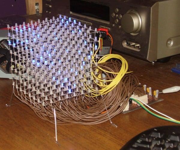 Giant LED Cube Uses 512 LEDs to Illuminate Builder's Geekiness
