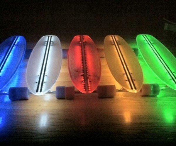Clear29 LED Skateboards Light Up the Night