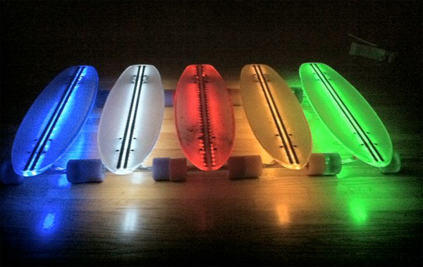 led skateboards undercarriage lighting
