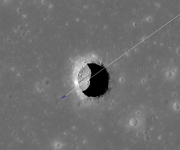 Giant Cave Found on the Moon