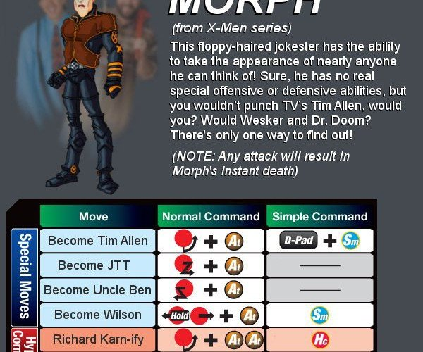morph marvel vs capcom 3 by dorkly