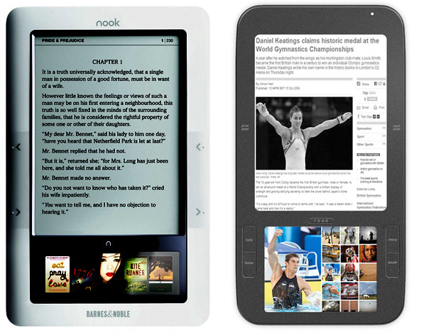 nook ve ereader