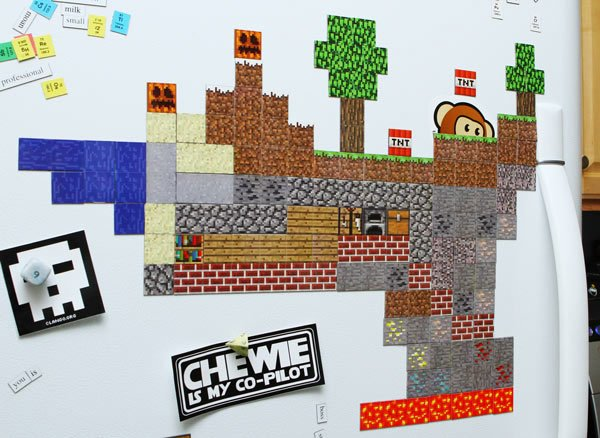 official minecraft magnets from thinkgeek 2