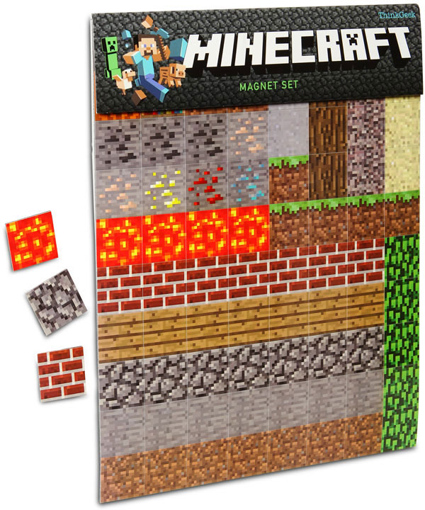 official minecraft magnets from thinkgeek