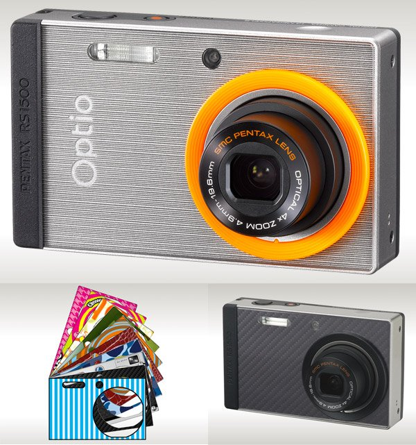 optio rs1500 custom camera