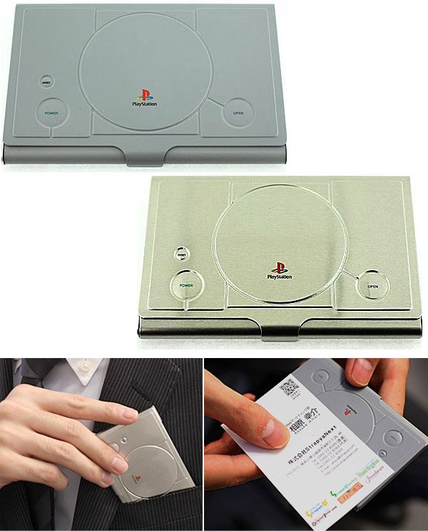 playstation business card holders
