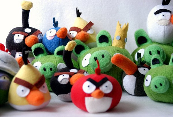 Angry Birds Get Crafty Plush And Stuffed With Rice