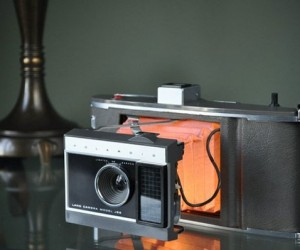 LED Lamps Made from Old Polaroid Cameras