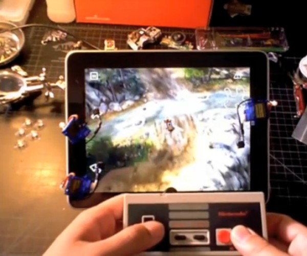RoboTouch Hack Controls iPad Via NES Controller, Adds Squeaky Button Feedback