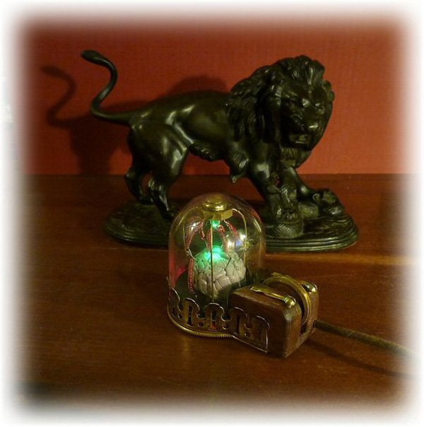 steampunk mouse with brain by peter balch 2