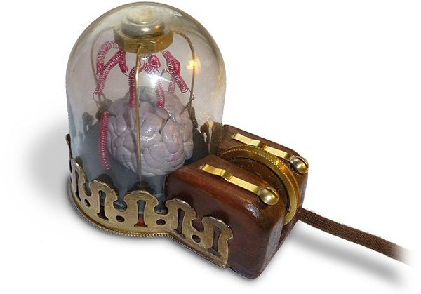 steampunk mouse with brain by peter balch