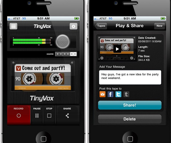 TinyVox iPhone App Helps You Break Out of the E-mail and Text Message Rut