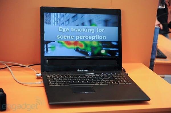 tobii lenovo eye controlled laptop