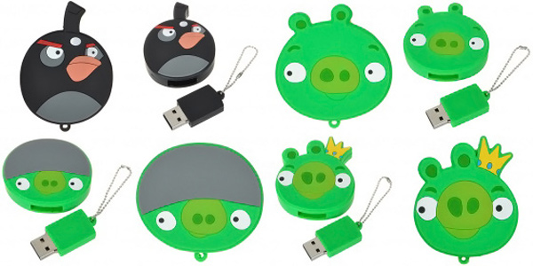 angry birds flash drive usb fun video games
