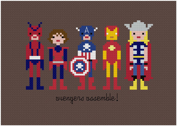cross stitch weelittlestitches jacqueline gable superheroes characters star wars
