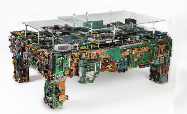 brc binary table computer junk recycled low