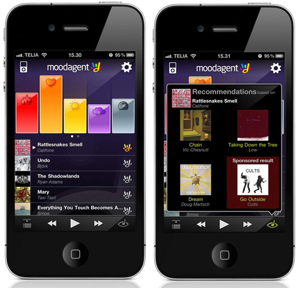 moodagent syntonetic app software emotions music player mobile