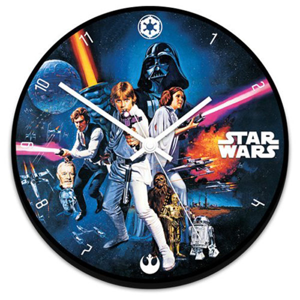 star wars a new hope clock wall wood