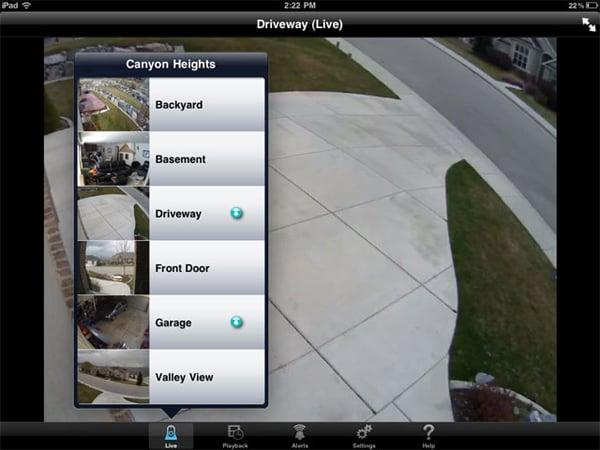 logitech alert app ipad iphone surveillance home security