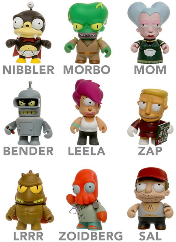 futurama mini figurines collectible thinkgeek blind box