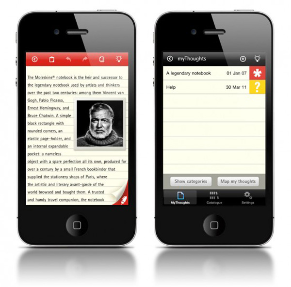 moleskine notes app ios iphone ipod touch ipad evernote