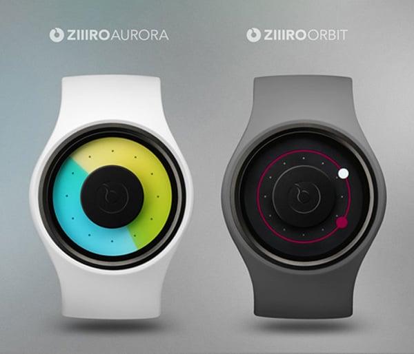 Ziiiro watch timepiece aurora orbit digital led