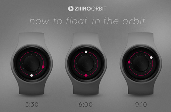 Ziiiro watch timepiece aurora orbit digital led