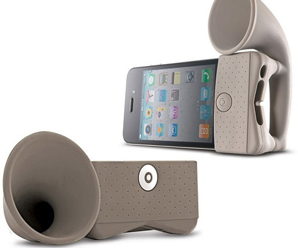 iPhone Portable Amplifier Horn: Sound Without Speakers