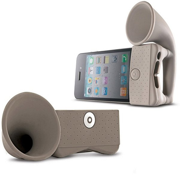 iphone horn amplifier green non-electrical speaker stand
