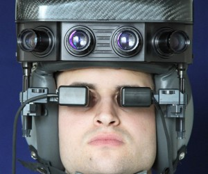 Night Vision Helmet Looks Dorky But Works Well