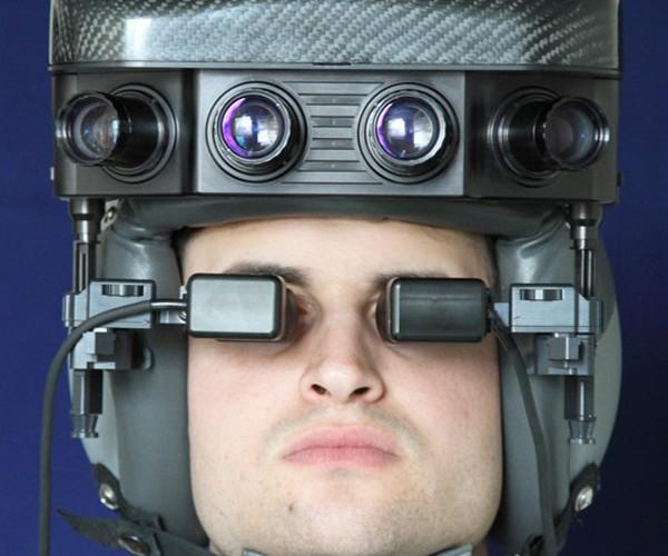 Night Vision Helmet Looks Dorky But Works Well
