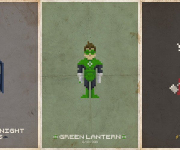 Pixelated Comic Book Superheroes: Let's Hope the Movies Are as Awesome as These Posters